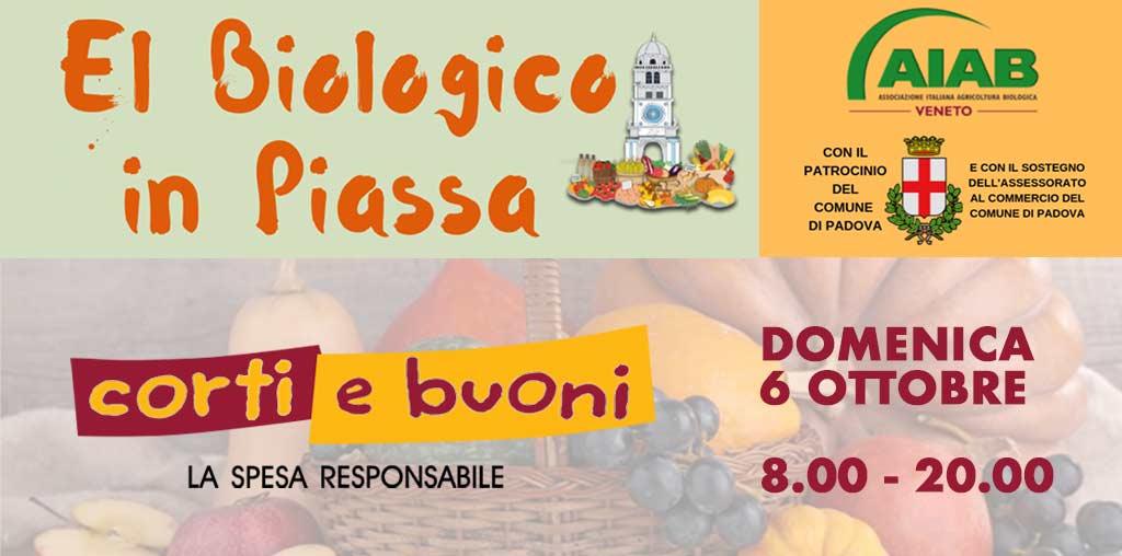 Biologico in Piassa a Padova 6 ottobre